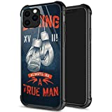 iPhone 11 Pro Max Case, Boxing Gloves iPhone 11 Pro Max Cases for Men Boys, Pattern Design Shockproof Anti-Scratch Organic Glass Case for Apple iPhone 11 Pro Max 6.5-inch Boxing Gloves