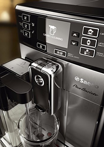 Saeco picobaristo super automatic espresso machine, 1. 8 l, stainless steel, hd8927/47 21 easily select one of 15 delicious drinks, or customize it to your taste with coffee equalizer and save it to one of 6 user profile our patented aquaclean water filter eliminates the need to descale for up to 5,000 cups get superior taste for 20,000 cups with our durable ceramic grinders