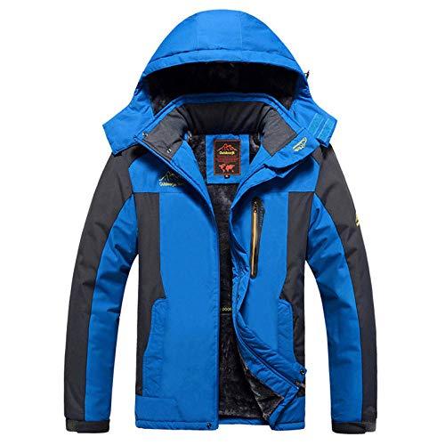 Aoccker Veste Polaire d'hiver pour Hommes Parka Coupe-Vent Et ImperméAble ImperméAble Chaud S-9xl-Bleu_l