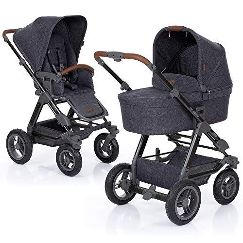 ABC Design Kombi-Kinderwagen Viper 4-2in1 Set aus Babywanne und Sportwagen | mit großen Lufträdern und Teleskop-Schieber - Street