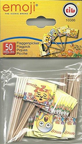 Happy People 10386 - Emoji Flaggen-Picker, 50 Stück