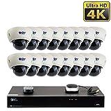 【2020 New】16 Channel H.265 PoE NVR Ultra-HD 4K (3840x2160)