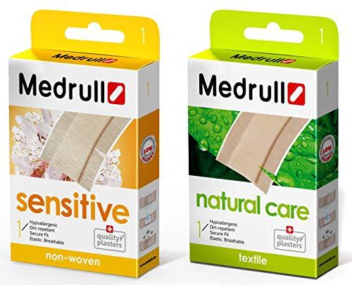 Medrull Sensitive Pflaster Natural Care Wundpflaster in Meterware Hautfreundliche Hypoallergene, Pflaster mit sicherer Klebkraft, flexible und atmungsaktive Heftpflaster