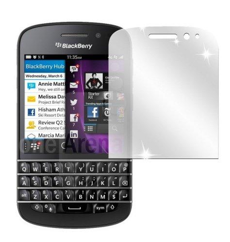 dipos I 2x Schutzfolie klar kompatibel mit Blackberry Q10 Folie Bildschirmschutzfolie