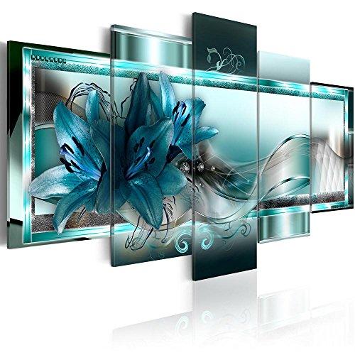 Canvas_Art_Design_2015 Home Decor Abstract Flower Wall Art Canvas Print Pictures for Living Room (A1, 20x30cmx2,20x40cmx2,20x50cmx1)