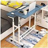 RH-HPC Mesa plegable para dibujo, mesa auxiliar portátil para lectura, mesa auxiliar portátil, mesa auxiliar multifuncional y práctica escritura, (color: blanco) (color: azul)