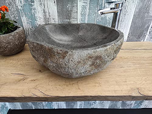 Lavabo de piedra 1ª elección 189 XL Medida 52 x 39 cm Altura 19 cm Fotos reales del lavabo lavabo de baño fregadero baño fregadero baño de apoyo