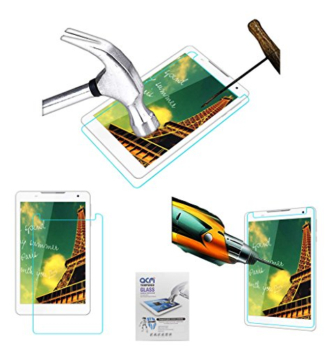 Acm Tempered Glass Screenguard Compatible with Celkon Diamond 4g Tab 8 Screen Guard Scratch Protector