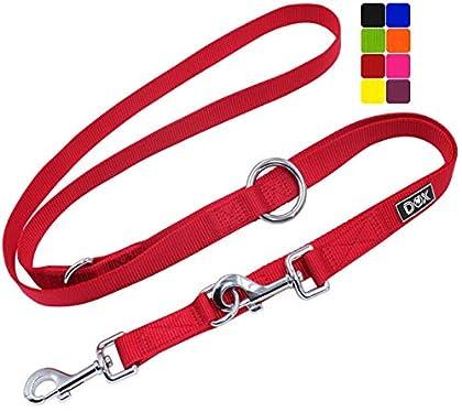 ✅ [HIGHLIGHTS] - Durch die zwei Karabiner und drei Ringe kann die Leine kurz oder lang als Kurzführer-Leine, Umhänge-Leine, Jogging-Leine sowie Trainings-Leine individuell genutzt werden. Sie ist für kleine, mittel-große, mittlere & grosse Hunde. Das...