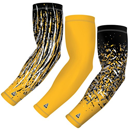 Sports Compression Arm Sleeves, Variety 3-Pack Football, Baseball, Basketball