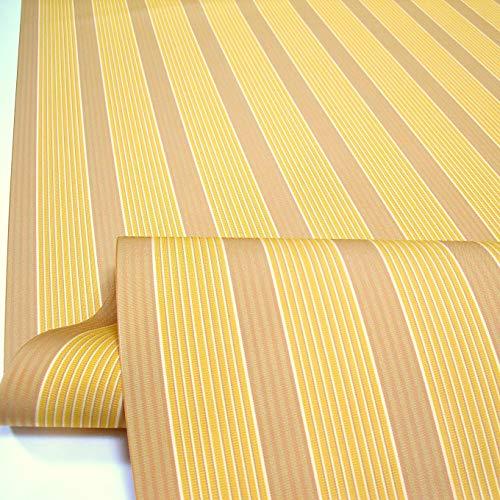 TOLKO Sonnenschutz Markisen-Stoffe als Meterware Zum Nähen mit UV-Schutz 50+ | Wasserdicht, Extra Langlebig - Ohne Ausbleichen (Ocker Gelb)