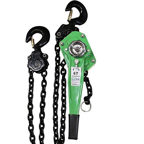 TrutzHolm® 0,75t 1,5t 3t 6t 3m Kettenlänge Ratschenzug Kettenzug Hebezug Hebelzug Flaschenzug verschiedene Modelle (6000 kg)