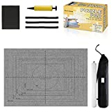 Gropecan Jigsaw Puzzle Mat Roll Up - 1500 Pieces and 2000 Pieces Saver Large Puzzles Board for Adults Kids, Storage and Transport Premium Pump Puzzle Glue Puzzles Felt Mat Inflatable Tube