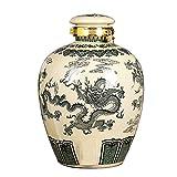 LXJ Cubeta de Hielo Decantador con Tapa Ginseng Botella 5l / 10l + Base + Grifo Ornamentos Decorativos Decanter Botella De Cerámica Botella Whisky Decanter Botella Vino(Size:5L)