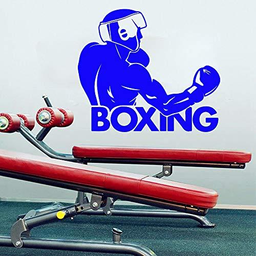yuandp Boxen woord Boxer Muurtattoo Boxen woord Boxer Fight Club Sport Muursticker Jongens Kamer Box Gym Workout Club Shop Decoratie Vinyl 89 * 77cm D