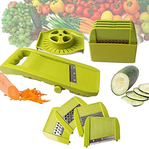 Ze Multifunction Vegetable Cutter Grater with Adjustable Stainless Steel Blade Vegetable Slicer...