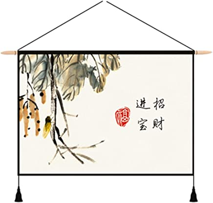 JTWJ 中国のタペストリー背景布insぶら下げ布北欧リビングルームぶら下げ画像布メーターボックスカバー背景壁diy壁布25.5×16.9インチ (Color : D)