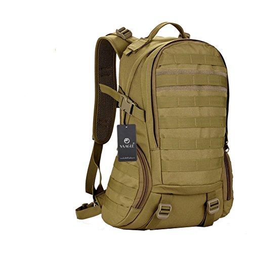 YAAGLE 35 L wasserdicht Rucksack Reisetasche Gepäck militärisch Outdoor Schultertasche Schüler Schultasche Sporttasche-braun