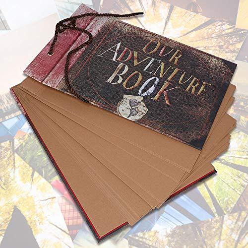 AUNMAS Retro Fotoalbum, avontuur, fotoboek, DIY, fotoscrapbook, voor jubileum, bruiloft, reizen, graduatie, verjaardag