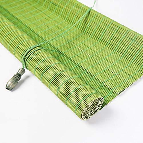 Persiana de bambú Cortinas Enrollables De La Ventana De Las Cortinas del Rodillo del Hogar del Sitio del Té con El Lazo, Bambú Verde, 60cm / 80cm / 100cm / 120cm / 140cm Ancho (Size : W 120×H 240cm)