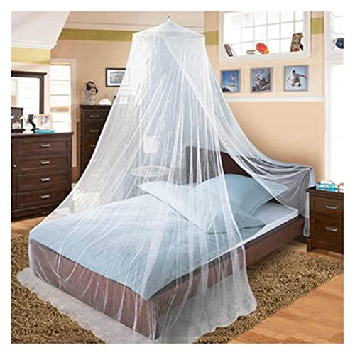 Mosquitera 4 colores verano elgant cúpula cúpula mosquitera red para cama matrimonio de doble cama de poliéster de malla de malla dormitorio para el hogar adultos de bebé decoración ( Color : Blue )