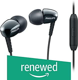 (Renewed) Philips Rich Bass in-Ear Headphones with Mic-Black