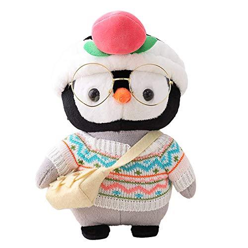 BOMING Plüsch-Babyspielzeug Pinguin-niedliches Karikatur-Tier Cosplay Dress Up Plüsch kinderspielzeug Gefüllte Puppe Borth Geburtstagsgeschenk (E, 30CM)