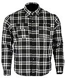 Bikers Gear Australia - Camisa protectora de franela para motocicleta con forro de aramida multicolor negro y blanco xxx-large