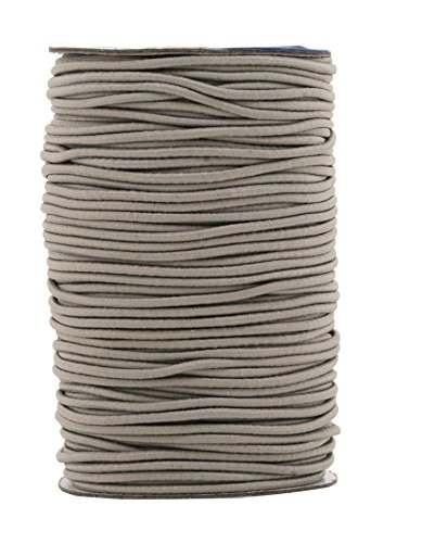 Mandala Crafts Elastic Cord Stretchy String for Bracelets, Necklaces, Jewelry Making, Beading, Masks (Gray, 2mm 76 Yards)