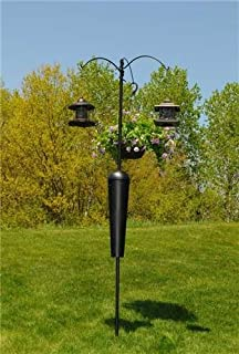 Squirrel Stopper (SPB09) Shenandoah/ Olympic Bird Feeder Post w/ 3 Hanging Stations