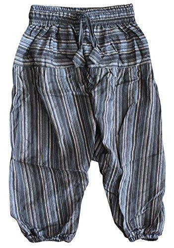 Shopoholic Fashion, Kinder-Hose im Boho-/Hippie-Stil, bequeme, farbenfrohe Retro-Hose Gr. M, Schwarz