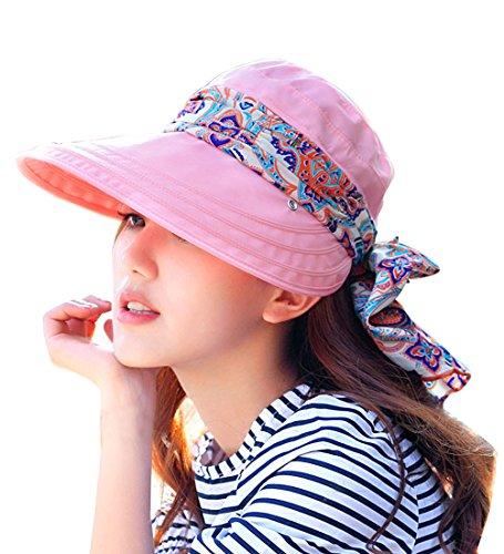 Kuyou Kuyou Sommer Strand Hat Damen Outdoor Sport Hut Anti-UV Sonnenhut, Pink, Einheitsgröße