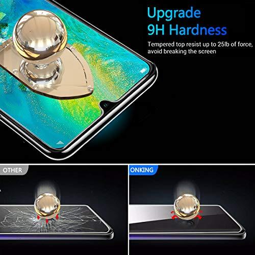 ONKING Folie für Huawei Mate 20 Panzerglas, AGC Glas HD Schutzfolie [2 Pack] Anti Kratzer Displayschutzfolie für Huawei Mate 20 Panzerglas Schutzglas Clear - 2