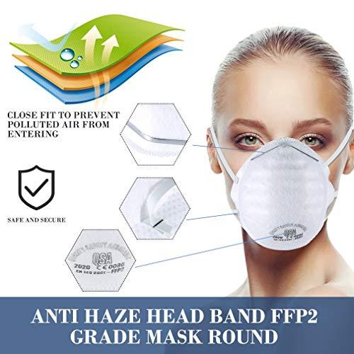 Atemschutzmaske FFP2 Maske Atemschutz Mundschutz Atemschutzmaske zur Prophylaxe Schmierinfektionen & Tröpfcheninfektionen (1PCS) - 9