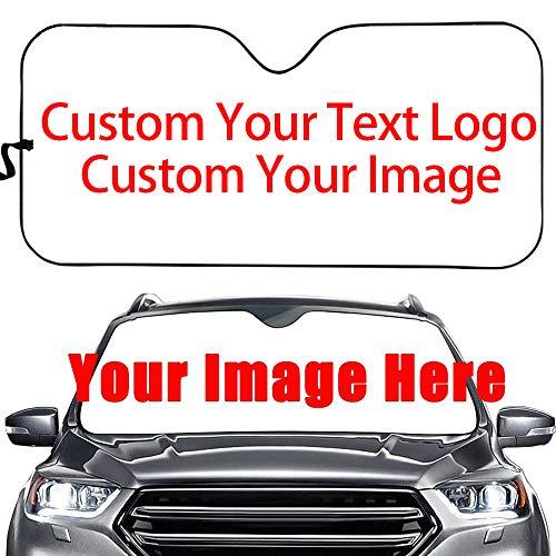 NewL para ventana de coche, imagen o texto personalizado en el parabrisas del coche, parasol para parabrisas de coche, protección solar para la ventana frontal, la pantalla de aluminio universal