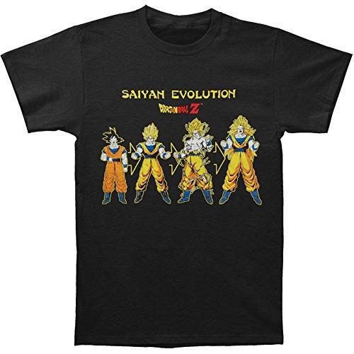 Dragonball Z Saiyan Evolution Mens zwart T-shirt
