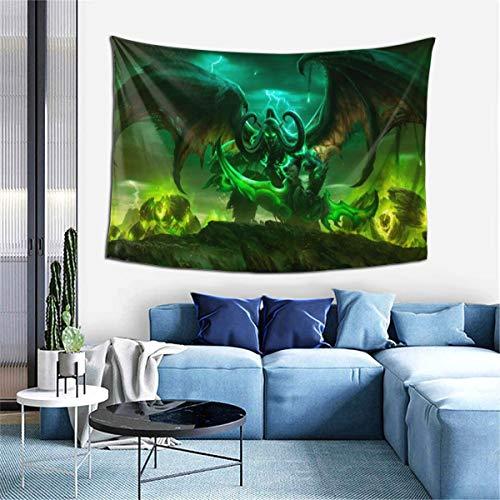 LMHBLTOP Tapiz para colgar en la pared, diseño de World Of Warcraft Illidan, para decoración del hogar, dormitorio, salón, dormitorio, alfombra de pared, 60 x 40 pulgadas