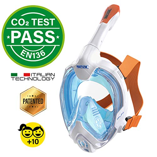 SEAC Unisex Youth Fun Volgelaatsmasker snorkelmasker voor kinderen 10+ en volwassenen, met kleine gezichten en snelspangespen