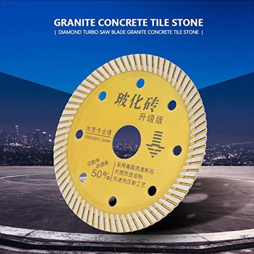 Hoja de sierra, disco de corte de oro, duradero para máquinas de corte eléctricas Azulejos de piedra Mármol para granito