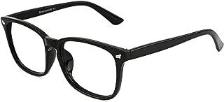 Vintage Nerd Square Eyeglasses Frame Keyhole Design Non Prescription Lens Glasses for Women Men