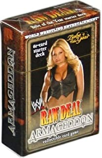 Comic Images WWE Wrestling Raw Deal TCG Armageddon Babe of The Year Trish Stratus Starter Deck