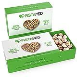 Pistachos ecológicos PISTAMED - 200 gramos. Tostado artesanal SIN SAL - Origen España (2 cajas de 100 gr.)