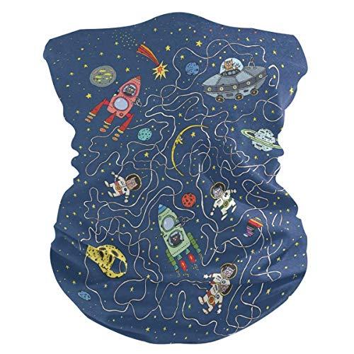 Diadema divertida para gatos astronauta planetas cara UV protección solar máscara de cuello polaina mágica bufanda bandana pañuelo para la cabeza pasamontañas para mujeres y hombres
