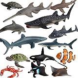 Sea Animal Figures Model Shark Whale Fish...