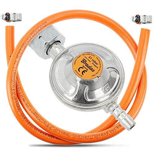 BRADAS® Gasregler Druckminderer 37 mBar...