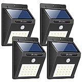 iPosible Luce Solare, [4-Pezzi] 20 LED Lampada Solare da Parete Wireless ad Energia Solare da Esterno Impermeabile con Sensore di Movimento Luci Solari da Esterni per Parete,Giardino