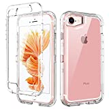 BENTOBEN iPhone SE 2020 Case, iPhone 8 Cases, iPhone 7 Cases, iPhone 6S Phone Case, iPhone 6 Case, Crystal Clear Heavy Duty Rugged Shockproof Protective Hard PC Soft TPU Bumper Case - Crystal Clear