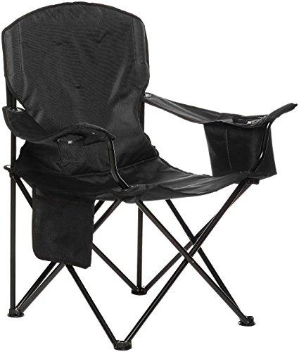 Amazon Basics - Silla de camping con enfriador, Negro (Acolchada, XL)
