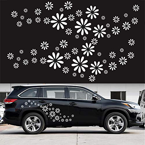 LOVFASHION Auto Styling Body Decorative Decals Daisy Flower Personalized Car Stickers PVC Practical Beautiful Durable 60pcs