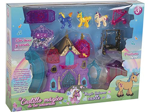 TWINAH Castillo Mágico de los Unicornios con Accesorios
